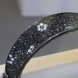 Pulsera Diamantes Negros y Blancos