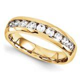 Cintillo oro amarillo 10 Diamantes corte brillante