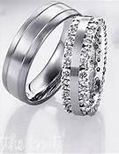 Aros de Matrimonio, con Diamantes Corte Brillante